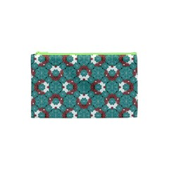 Colorful Geometric Graphic Floral Pattern Cosmetic Bag (xs)