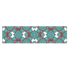 Colorful Geometric Graphic Floral Pattern Satin Scarf (oblong)