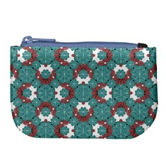 Colorful Geometric Graphic Floral Pattern Large Coin Purse