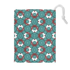Colorful Geometric Graphic Floral Pattern Drawstring Pouches (extra Large)