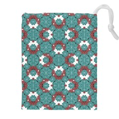 Colorful Geometric Graphic Floral Pattern Drawstring Pouches (xxl)