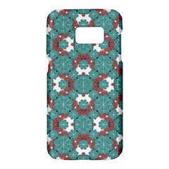 Colorful Geometric Graphic Floral Pattern Samsung Galaxy S7 Hardshell Case