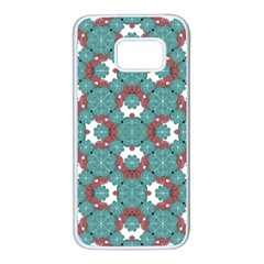 Colorful Geometric Graphic Floral Pattern Samsung Galaxy S7 White Seamless Case