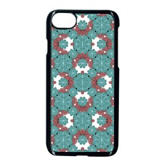 Colorful Geometric Graphic Floral Pattern Apple Iphone 7 Seamless Case (black)