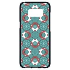 Colorful Geometric Graphic Floral Pattern Samsung Galaxy S8 Black Seamless Case