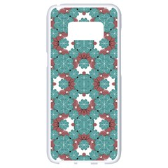 Colorful Geometric Graphic Floral Pattern Samsung Galaxy S8 White Seamless Case