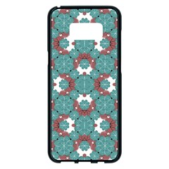 Colorful Geometric Graphic Floral Pattern Samsung Galaxy S8 Plus Black Seamless Case