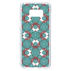 Colorful Geometric Graphic Floral Pattern Samsung Galaxy S8 Plus White Seamless Case