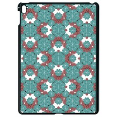 Colorful Geometric Graphic Floral Pattern Apple Ipad Pro 9 7   Black Seamless Case