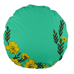 A New Day Large 18  Premium Flano Round Cushions