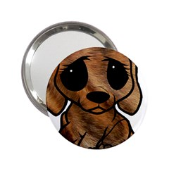 Plott Hound Cartoon 2 25  Handbag Mirrors