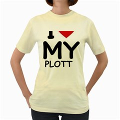 Plott Hound Love Women s Yellow T Shirt