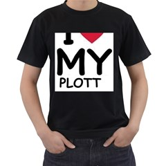 Plott Hound Love Men s T Shirt (black) (two Sided)