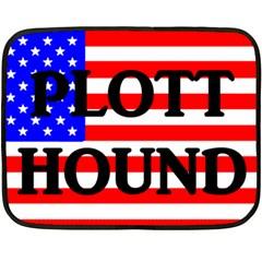 Plott Hound Name On Flag Double Sided Fleece Blanket (mini)