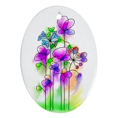 Flovers 23 Ornament (oval)
