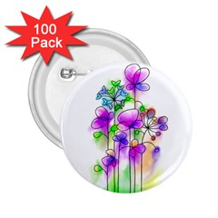 Flovers 23 2 25  Buttons (100 Pack)