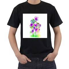 Flovers 23 Men s T Shirt (black) (two Sided)