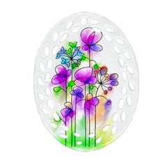 Flovers 23 Oval Filigree Ornament (two Sides)
