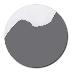 Puli Silhouette Grey Round Mousepads