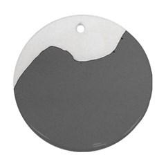Puli Silhouette Grey Ornament (round)