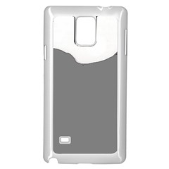 Puli Silhouette Grey Samsung Galaxy Note 4 Case (white)