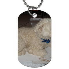 Puli Laying Dog Tag (two Sides)