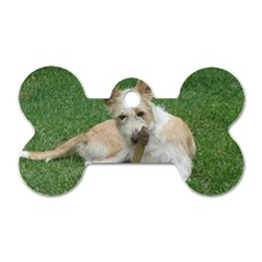 Podengo Portugues Laying Dog Tag Bone (two Sides)