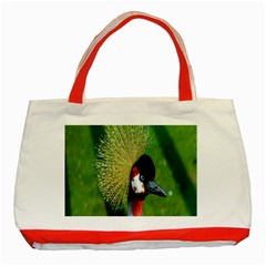 Bird Hairstyle Animals Sexy Beauty Classic Tote Bag (red)