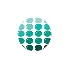 Bubbel Balloon Shades Teal Golf Ball Marker (4 Pack)