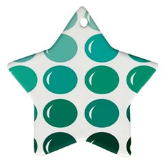 Bubbel Balloon Shades Teal Star Ornament (two Sides)