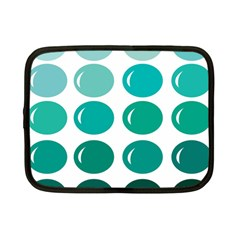 Bubbel Balloon Shades Teal Netbook Case (small)