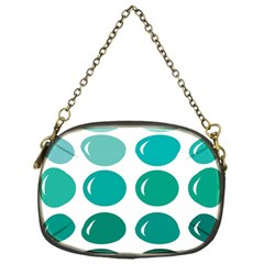 Bubbel Balloon Shades Teal Chain Purses (one Side)
