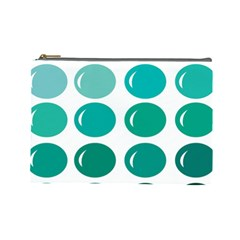 Bubbel Balloon Shades Teal Cosmetic Bag (large)