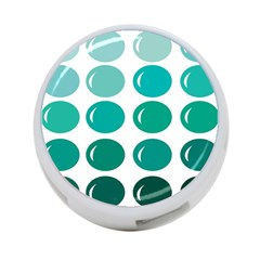 Bubbel Balloon Shades Teal 4 Port Usb Hub (one Side)