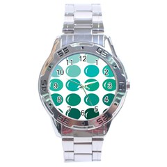 Bubbel Balloon Shades Teal Stainless Steel Analogue Watch