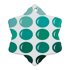 Bubbel Balloon Shades Teal Snowflake Ornament (two Sides)