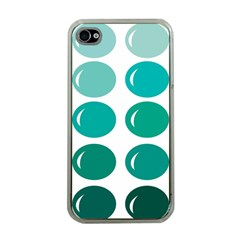 Bubbel Balloon Shades Teal Apple Iphone 4 Case (clear)