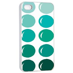 Bubbel Balloon Shades Teal Apple Iphone 4/4s Seamless Case (white)