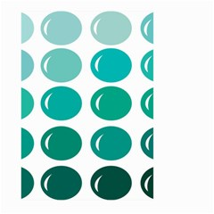 Bubbel Balloon Shades Teal Large Garden Flag (two Sides)