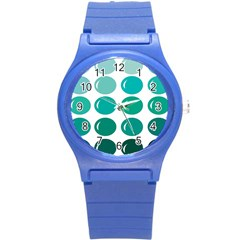 Bubbel Balloon Shades Teal Round Plastic Sport Watch (s)
