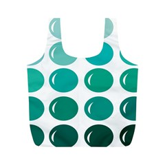 Bubbel Balloon Shades Teal Full Print Recycle Bags (m)