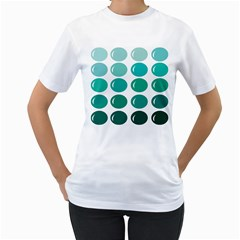 Bubbel Balloon Shades Teal Women s T Shirt (white)