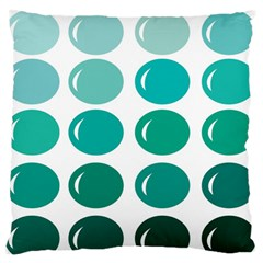 Bubbel Balloon Shades Teal Standard Flano Cushion Case (two Sides)