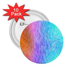 Aurora Rainbow Orange Pink Purple Blue Green Colorfull 2 25  Buttons (10 Pack)