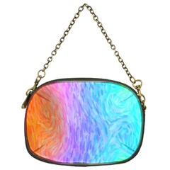 Aurora Rainbow Orange Pink Purple Blue Green Colorfull Chain Purses (one Side)
