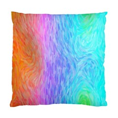 Aurora Rainbow Orange Pink Purple Blue Green Colorfull Standard Cushion Case (one Side)
