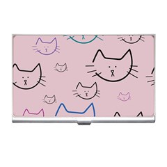 Cat Pattern Face Smile Cute Animals Beauty Business Card Holders