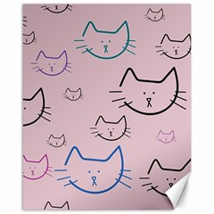 Cat Pattern Face Smile Cute Animals Beauty Canvas 16  X 20