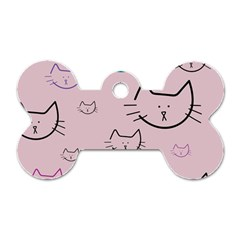 Cat Pattern Face Smile Cute Animals Beauty Dog Tag Bone (two Sides)