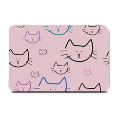 Cat Pattern Face Smile Cute Animals Beauty Small Doormat